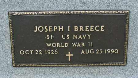 I. BREECE, JOSEPH - Delaware County, Ohio   JOSEPH I. BREECE - Ohio Gravestone Photos