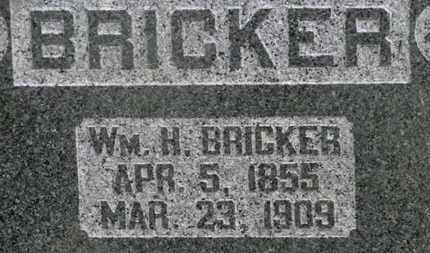 BRICKER, WM. H. - Delaware County, Ohio | WM. H. BRICKER - Ohio Gravestone Photos