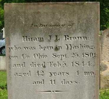 BROWN, HIRAM J. L. - Delaware County, Ohio | HIRAM J. L. BROWN - Ohio Gravestone Photos