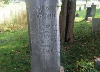 VANSICKLE BROWN, SARAH O. - Delaware County, Ohio | SARAH O. VANSICKLE BROWN - Ohio Gravestone Photos