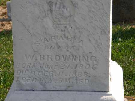 BROWNING, SARAH A. - Delaware County, Ohio | SARAH A. BROWNING - Ohio Gravestone Photos