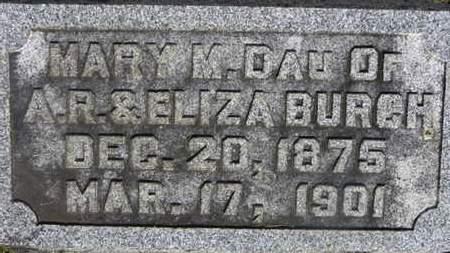 BURCH, MARY M. - Delaware County, Ohio | MARY M. BURCH - Ohio Gravestone Photos