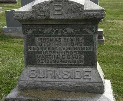 BURNSIDE, THOMAS EDWIN - Delaware County, Ohio | THOMAS EDWIN BURNSIDE - Ohio Gravestone Photos