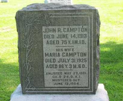 CAMPTON, JOHN R. - Delaware County, Ohio   JOHN R. CAMPTON - Ohio Gravestone Photos