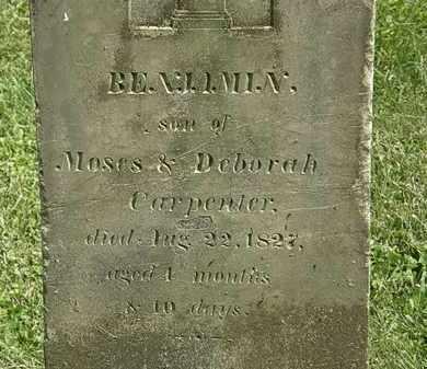 CARPENTER, BENJAMIN - Delaware County, Ohio   BENJAMIN CARPENTER - Ohio Gravestone Photos