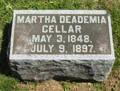 CELLAR, MARTHA DEADEMIA - Delaware County, Ohio   MARTHA DEADEMIA CELLAR - Ohio Gravestone Photos