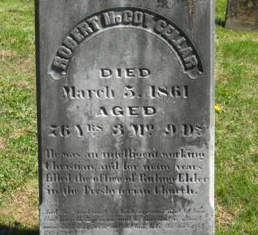 CELLAR, ROBERT MCCOY - Delaware County, Ohio | ROBERT MCCOY CELLAR - Ohio Gravestone Photos
