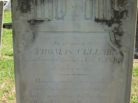 CELLAR, THOMAS - Delaware County, Ohio   THOMAS CELLAR - Ohio Gravestone Photos