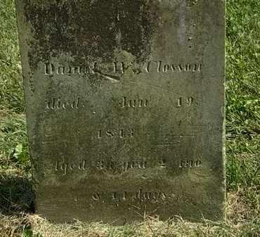 CLOSSON, DANIEL W. - Delaware County, Ohio   DANIEL W. CLOSSON - Ohio Gravestone Photos