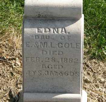 COLE, EDNA - Delaware County, Ohio | EDNA COLE - Ohio Gravestone Photos