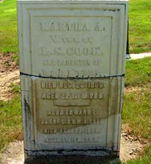 COOK, MARTHA A. - Delaware County, Ohio | MARTHA A. COOK - Ohio Gravestone Photos
