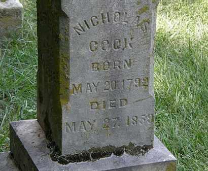 COOK, NICHOLAS - Delaware County, Ohio   NICHOLAS COOK - Ohio Gravestone Photos