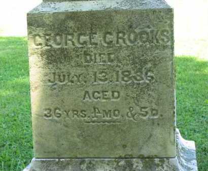CROOKS, GEORGE - Delaware County, Ohio | GEORGE CROOKS - Ohio Gravestone Photos