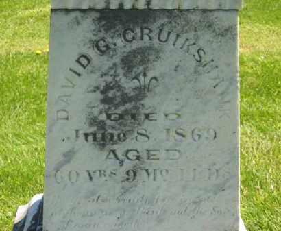 CRUIKSHANK, DAVID G. - Delaware County, Ohio | DAVID G. CRUIKSHANK - Ohio Gravestone Photos