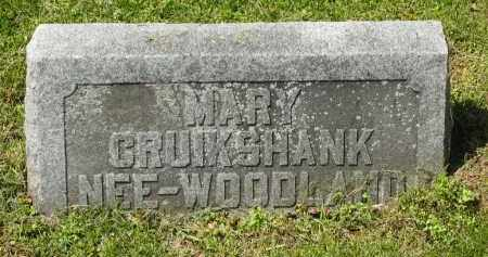 WOODLAND CRUIKSHANK, MARY - Delaware County, Ohio | MARY WOODLAND CRUIKSHANK - Ohio Gravestone Photos