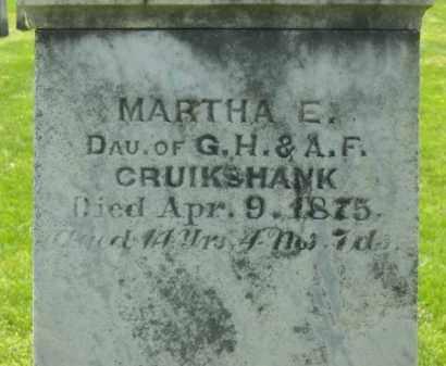 CRUIKSHANK, MARTHA E. - Delaware County, Ohio | MARTHA E. CRUIKSHANK - Ohio Gravestone Photos