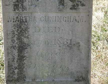 CUNNINGHAM, MARTHA - Delaware County, Ohio   MARTHA CUNNINGHAM - Ohio Gravestone Photos