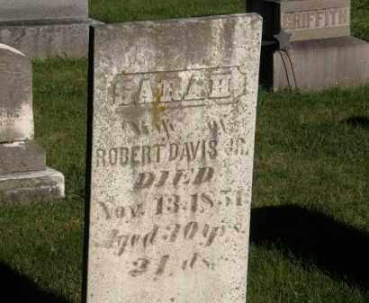 DAVIS, SARAH - Delaware County, Ohio | SARAH DAVIS - Ohio Gravestone Photos