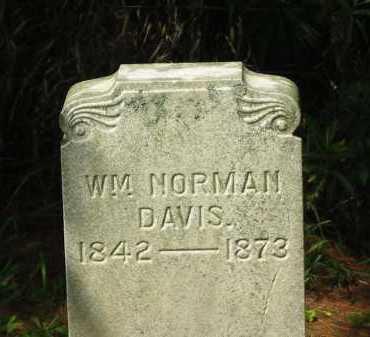 DAVIS, WM. NORMAN - Delaware County, Ohio | WM. NORMAN DAVIS - Ohio Gravestone Photos