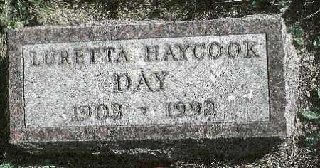 HAYCOOK DAY, LURETTA M. - Delaware County, Ohio | LURETTA M. HAYCOOK DAY - Ohio Gravestone Photos