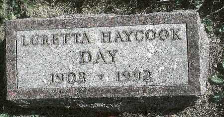 HAYCOOK DAY, LURETTA M. - Delaware County, Ohio | LURETTA M. HAYCOOK DAY - Ohio Gravestone Photos