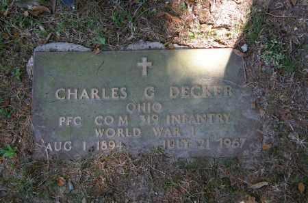 DECKER, CHARLES G. - Delaware County, Ohio | CHARLES G. DECKER - Ohio Gravestone Photos