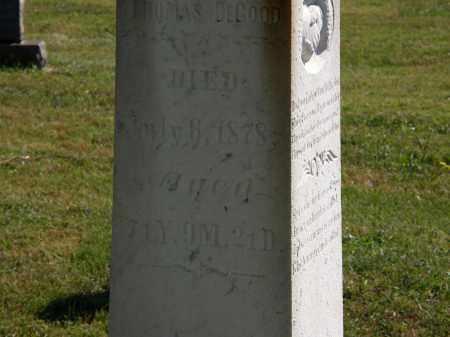 DEGOOD, THOMAS - Delaware County, Ohio   THOMAS DEGOOD - Ohio Gravestone Photos