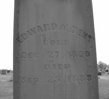 DENT, EDWARD H. - Delaware County, Ohio | EDWARD H. DENT - Ohio Gravestone Photos