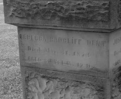 RADCLIFF DENT, REBECCA - Delaware County, Ohio   REBECCA RADCLIFF DENT - Ohio Gravestone Photos