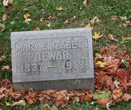 DEWAR, MARY ELIZABETH - Delaware County, Ohio   MARY ELIZABETH DEWAR - Ohio Gravestone Photos