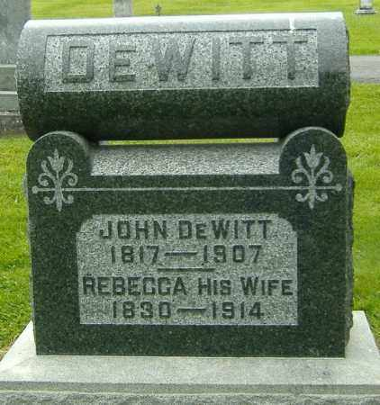 YOUNG DEWITT, REBECCA - Delaware County, Ohio | REBECCA YOUNG DEWITT - Ohio Gravestone Photos