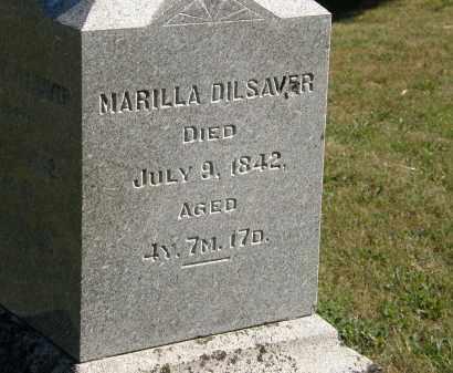 DILSAVER, MARILLA - Delaware County, Ohio   MARILLA DILSAVER - Ohio Gravestone Photos