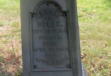 DUNHAM, CALLIE BELLE - Delaware County, Ohio | CALLIE BELLE DUNHAM - Ohio Gravestone Photos