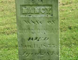 DUNHAM, NANCY - Delaware County, Ohio | NANCY DUNHAM - Ohio Gravestone Photos
