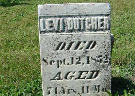 DUTCHER, LEVI - Delaware County, Ohio | LEVI DUTCHER - Ohio Gravestone Photos