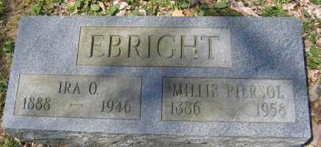 EBRIGHT, IRA O. - Delaware County, Ohio   IRA O. EBRIGHT - Ohio Gravestone Photos