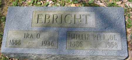 EBRIGHT, IRA O. - Delaware County, Ohio | IRA O. EBRIGHT - Ohio Gravestone Photos