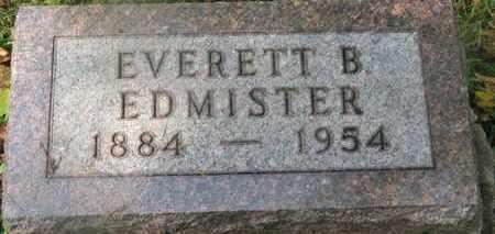 EDMISTER, EVERETT B. - Delaware County, Ohio | EVERETT B. EDMISTER - Ohio Gravestone Photos