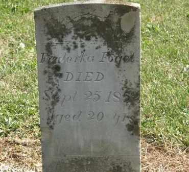 FOGEL, FREDERKA - Delaware County, Ohio | FREDERKA FOGEL - Ohio Gravestone Photos