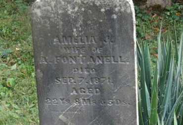 FONTANELL, AMELIA J. - Delaware County, Ohio   AMELIA J. FONTANELL - Ohio Gravestone Photos