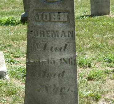 FOREMAN, JOHN - Delaware County, Ohio   JOHN FOREMAN - Ohio Gravestone Photos
