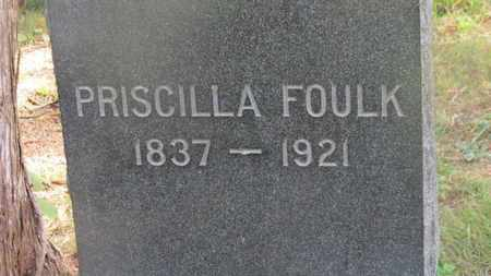 FOULK, PRISCILLA - Delaware County, Ohio | PRISCILLA FOULK - Ohio Gravestone Photos