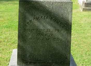 FOUST, ABRAHAM - Delaware County, Ohio   ABRAHAM FOUST - Ohio Gravestone Photos