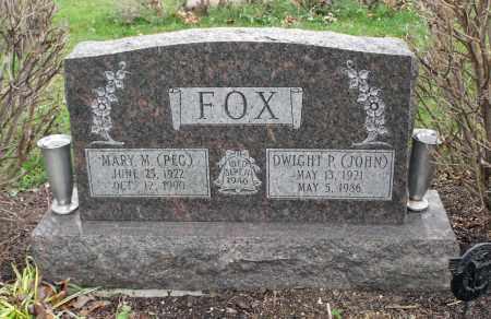 "FOX, MARY M. ""PEG"" - Delaware County, Ohio | MARY M. ""PEG"" FOX - Ohio Gravestone Photos"