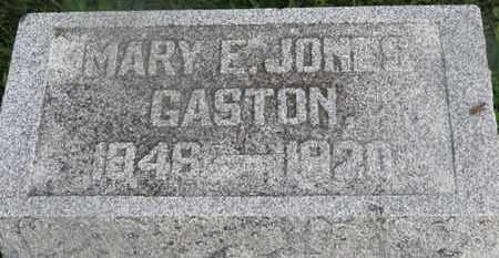 JONES GASTON, MARY E. - Delaware County, Ohio   MARY E. JONES GASTON - Ohio Gravestone Photos