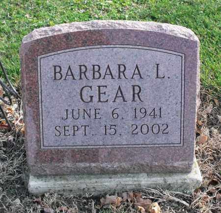 GEAR, BARBARA L. - Delaware County, Ohio | BARBARA L. GEAR - Ohio Gravestone Photos