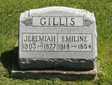 GILLIS, EMILINE - Delaware County, Ohio | EMILINE GILLIS - Ohio Gravestone Photos