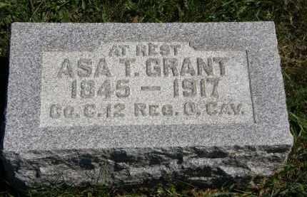 GRANT, ASA T. - Delaware County, Ohio | ASA T. GRANT - Ohio Gravestone Photos
