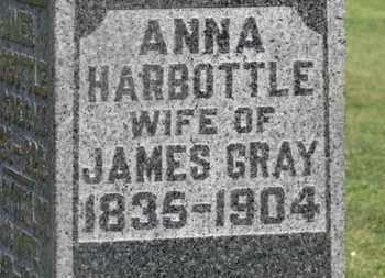 HARBOTTLE GRAY, ANNA - Delaware County, Ohio | ANNA HARBOTTLE GRAY - Ohio Gravestone Photos