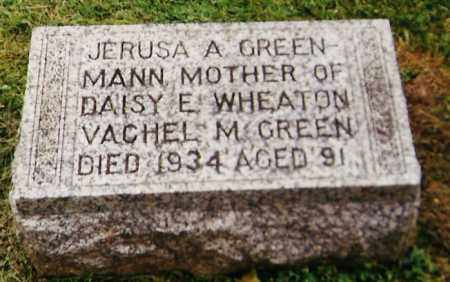 GREEN-MANN, JERUSA A. - Delaware County, Ohio | JERUSA A. GREEN-MANN - Ohio Gravestone Photos